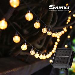 String Light Solar LED Light Outdoor Garden Wedding Decoration Lamp 5M/6M/7M/12M IP65 Waterproof Garland Outdoor Furniture Light