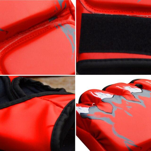 Adult MMA Boxing Sandbag Fight Combat Training Faux Leather Half Finger Gloves Tools for Muay Thai Karate Muay Free Fight Sanda 6