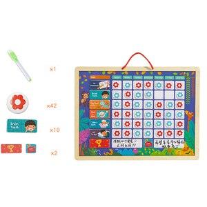 Image 4 - Tableau dactivité de récompense magnétique en bois, calendrier de responsabilités, jouets éducatifs pour enfants, calendrier de responsabilités, jouets