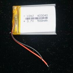 XINJ 3.7V 500mAh akumulator litowo-polimerowy akumulator lipo komórek 403040 dla gracza gry GPS MP4 E-book rejestrator jazdy kamera oświetlenie LED