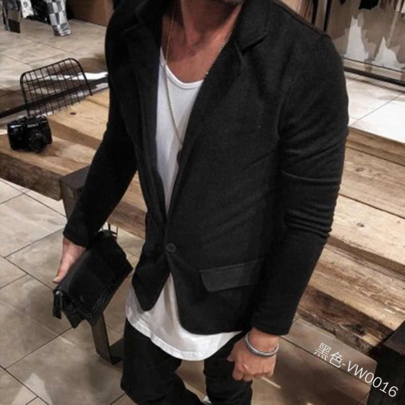 Adisputent ファッション男性ブレザースリム英国スタイルのコートビジネスカジュアルスーツのジャケットの男性長袖正式なブランド