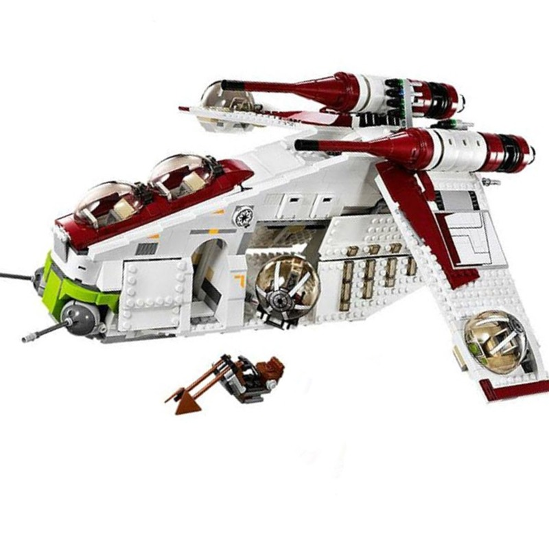 In Stock Republic Gunship Set <font><b>05041</b></font> 05085 05145 <font><b>Star</b></font> <font><b>Wars</b></font> Toys Compatible With Lepines Starwars Educational Boys Gift image
