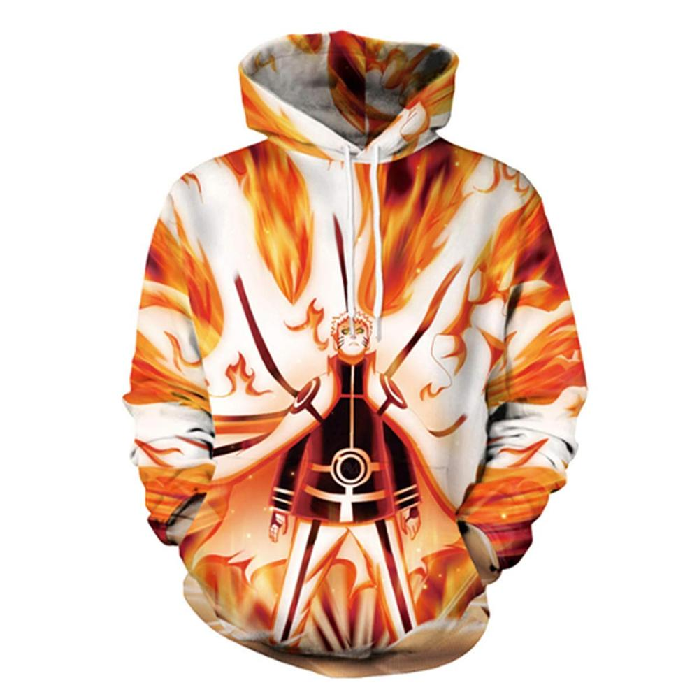 2019 Naruto Anime Hoodies 3D Men Women Sasuke Autumn Harajuku Kakashi 3D Cartoon Print Sweatwear Men's Hoodies Sweatshirt Coats
