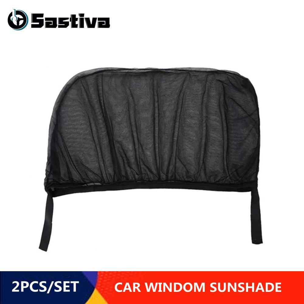 2Pcs Car Window Cover Sunshade Auto Sun Shade Curtain UV Protection Shield Visor Mesh Car Accessories Autos Sunshades in Side Window Sunshades from Automobiles Motorcycles