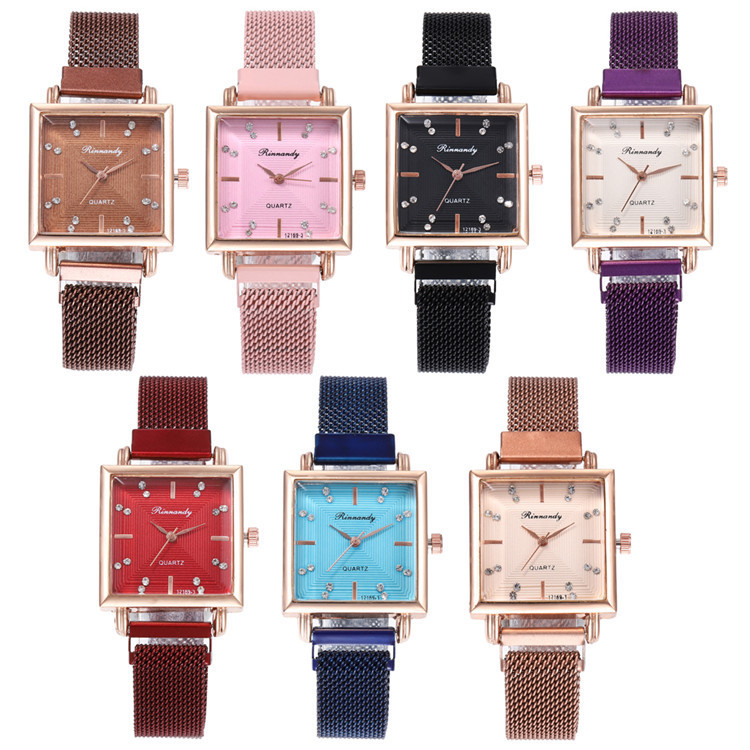 Fashion Belt Series Bracelet Watch Exquisite Multicolor Square Set Auger Surface With Watches Joker Lady Wrist Watch