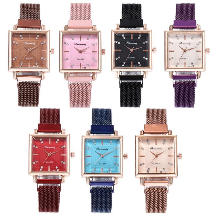 Fashion Belt Series Bracelet Watch Exquisite Multicolor Square Set Auger Surface With Watches Joker Lady Wrist Watch
