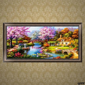 5D Diamond Embroidery House Scenery Painting Cross Stitch Craft Home Decor Gift