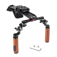 "CAMVATE Handhled And Shoulder Mount Rig With 12"" Dovetail Bridge Plate & Rosette Mount Handgrip Pair C2321"