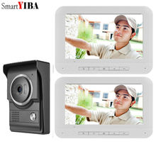 SmartYIBA Visual IR Camera 1000 TV Line Ring Video Door Phone HD Wired Doorbell Intercom System Video Door Entry Phone Call