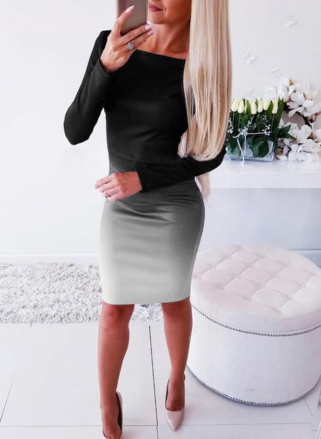 Women Casual Loose Dress Colors Spring Winter Boho Bow Full Long Sleeve Befree Mini Dress Plus Sizes Dresses Robe Femme 2020 4