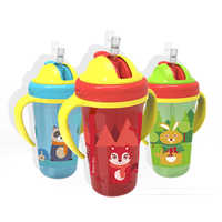 Baby Training Water Cup Infant Cartoon Leak-Proof Cute Drinker Cup Kid Feeding Portable Learning Drinking Cup With Double Handle
