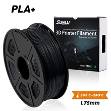 SUNLU PLA plus filament 1.75m/1kg 3d free ship new printing material Upgrade edition of support bulk order