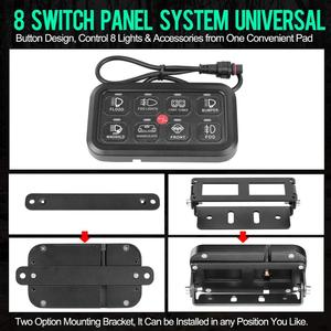 Image 2 - 8 Gang LED anahtarı paneli ince dokunmatik kontrol Panel kutusu ile kablo demeti ve etiket çıkartmaları araba tekne karavan