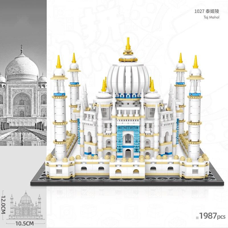 Loz mini blocos de construção mundialmente famoso clássico arquitetura taj mahal 1987 peças coleção modelo presentes para crianças diy exposição brinquedo