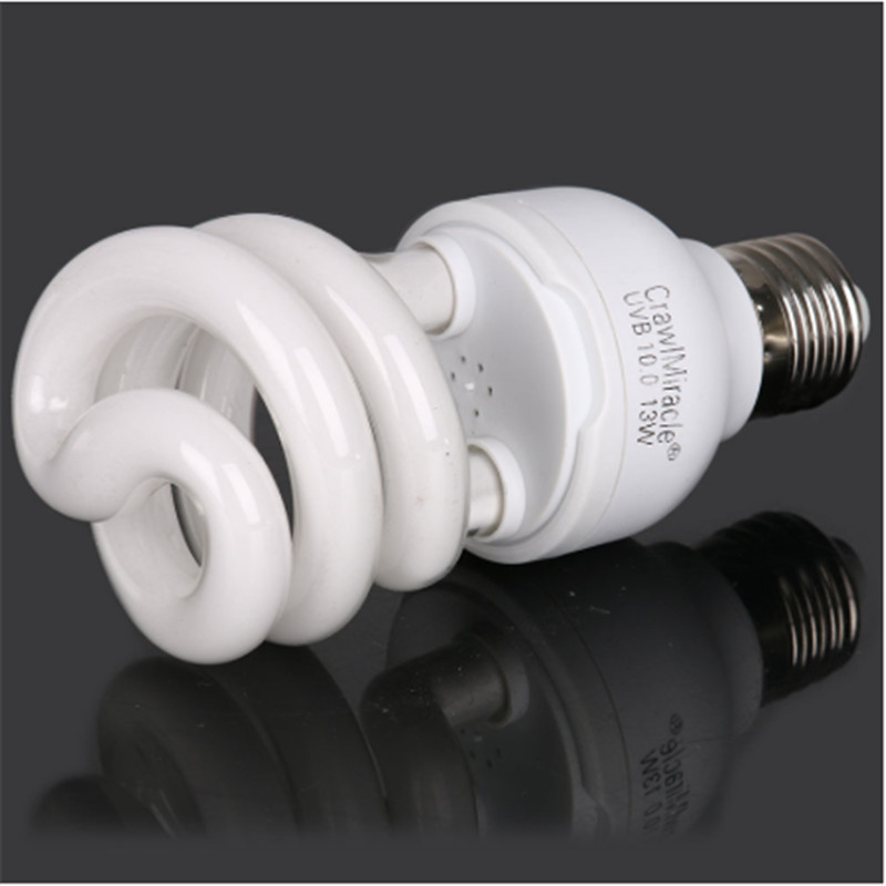 Newly Hot 5.0 10.0 UVB 13W Reptile Light Bulb UV Glow Lamp For Vivarium Terrarium Tortoise ES-E27 Energy Saving Lamps
