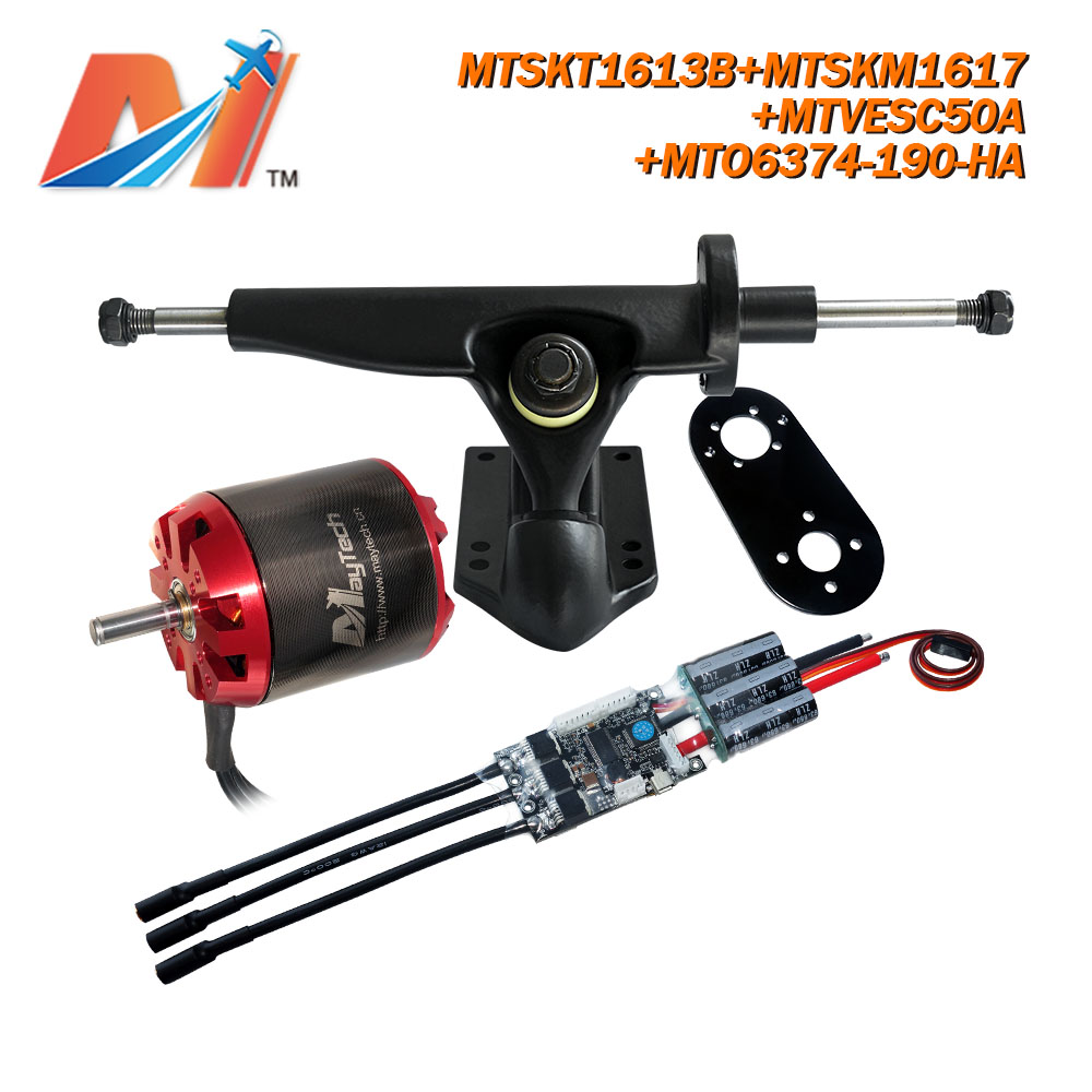Maytech (4pcs) <font><b>6374</b></font> <font><b>190KV</b></font> <font><b>motor</b></font> rc outrunner <font><b>brushless</b></font> <font><b>motor</b></font> for electric skateboard with hall sensor combo image