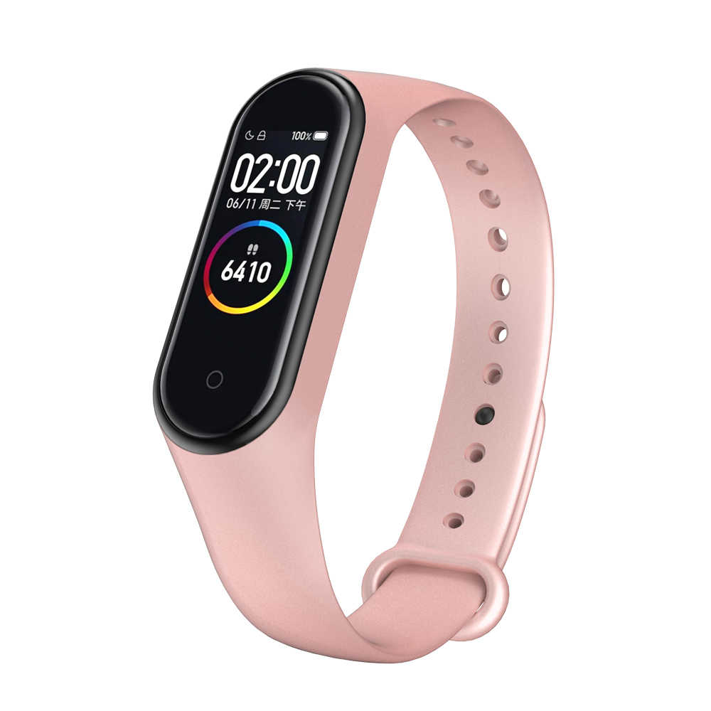 Pulsera de silicona para Xiaomi mi Band 3 4 Metal colorido deporte reemplazo Correa Smart watch banda para banda Accesorios inteligentes