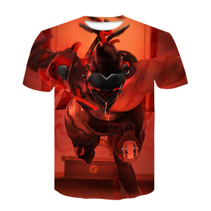"Digital print short sleeve 3DT shirt, the latest ""Overwatch"" cosplay round neck short sleeve shirt fashion casual T-shirt 3"