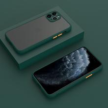 Custodia opaca per iPhone 11 Pro Max 12 Mini 11Pro X XS XR 7 8 Plus SE 2020 6 S 6 Cover in Silicone accessori per la protezione della fotocamera
