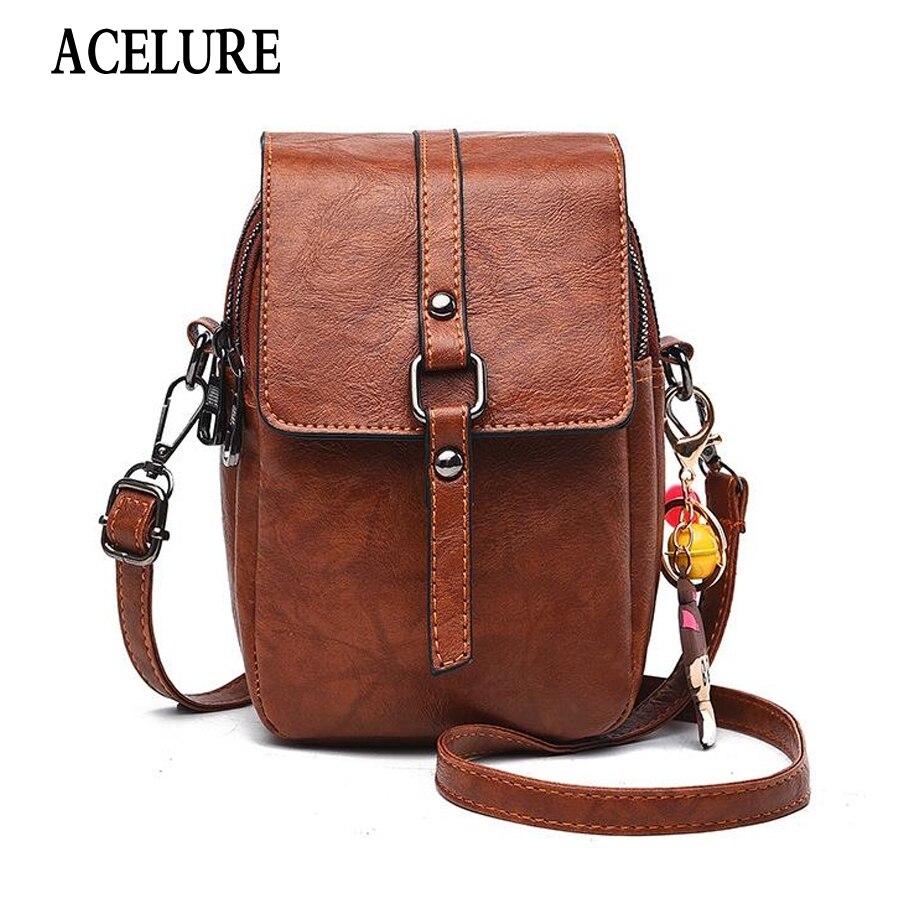 ACELURE New Women's Fashion Shoulder Bag Simple Solid Color Long Mobile Phone Bag Messenger Bag High Quality Brand Mini Handbag