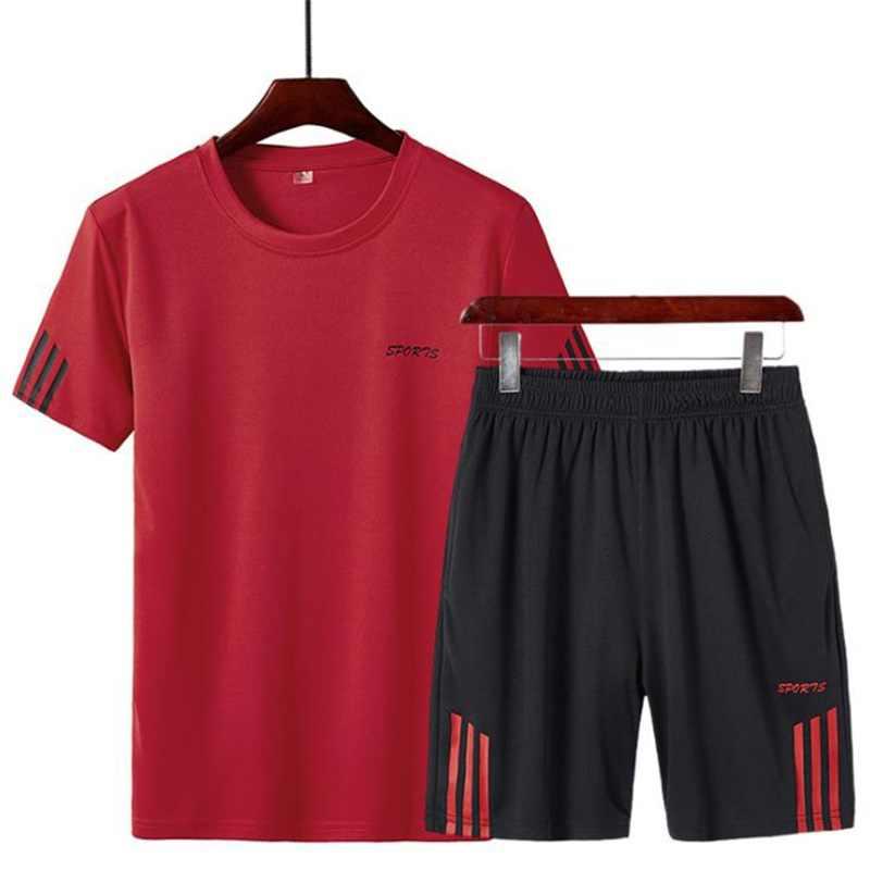 HENCHIRY бренд 2 шт./компл. мужской спортивной одежды спортивный костюм для спортзала милый костюм одежда для бега спортивная одежда 2019 новое поступление
