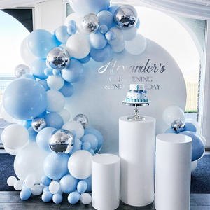 141pcs Macaron Balloon Garland Birthday Party Decor Kids Baby Shower Ballon Arch Wedding Party Globos Oh Baby Wood Wall Sticker