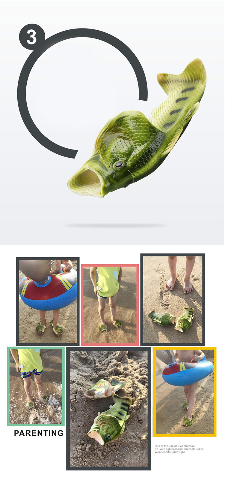 H403b1208a2e84622968282336424852dP Family Funny Fish Slippers