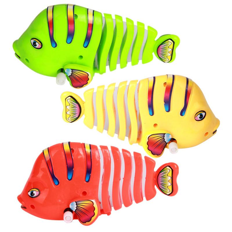Cute Baby Bath Toys Shower Kids Shower Clockwork Wind Up Fish For Kids Bathtub Foam Educational Toys Gift Random Color Dropshipp