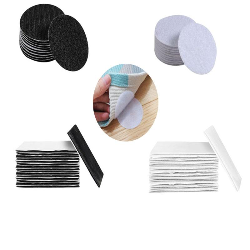 5/10Pairs/lot Strong Self adhesive Hook and Loop Fastener Tape nylon sticker velcros fastener hook loop with Glue for DIY Craft