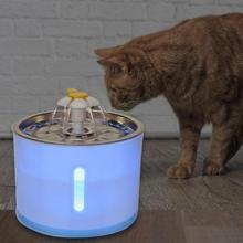 2.4L USB интерфейс питомец поилка цветочный диспенсер для воды собака кошка светодиодный автоматический фонтан питьевой машины