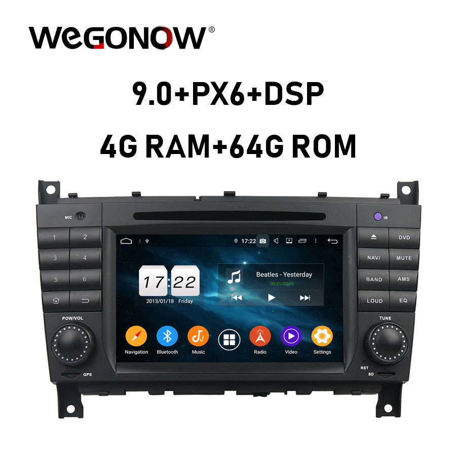 HD TDA7851 4*50W Android 9.0 4GB RAM 64G Car DVD Player Wifi BT 5.0 <font><b>RADIO</b></font> GPS <font><b>navi</b></font> map For <font><b>Benz</b></font> <font><b>W203</b></font> W467 W209 W219 2010 2011 image