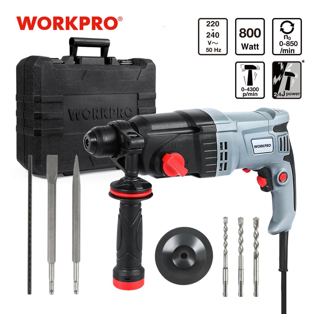 WORKPRO 230V 26mm 4 Functions AC Electric Rotary Hammer with BMC and 5pcs Accessories Impact Drill Power Drill Electric Drill 1