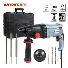 Rotary-Hammer Power-Drill WORKPRO BMC Electric 5pcs-Accessories 4-Functions 230V 26mm