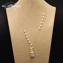 GLSEEVO ожерелье с кулоном из пресной воды и белого жемчуга для женщин и влюбленных, вечерние ювелирные изделия ручной работы для помолвки GN0155