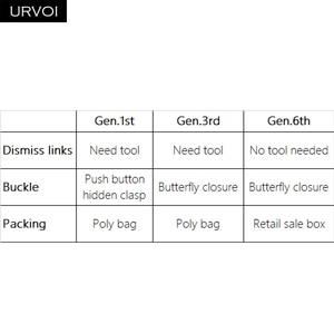 Image 3 - URVOI קישור צמיד gen.6th 3rd 1st עבור אפל שעון סדרת 6 5 4 3 רצועת עבור iWatch מתכוונן באיכות גבוהה נירוסטה בנד