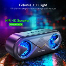 Portable Wireless Bluetooth 5.0 Speaker 4D Stereo Sound Loudspeaker Outdoor Double Speakers Support TF card/USB drive/AUX