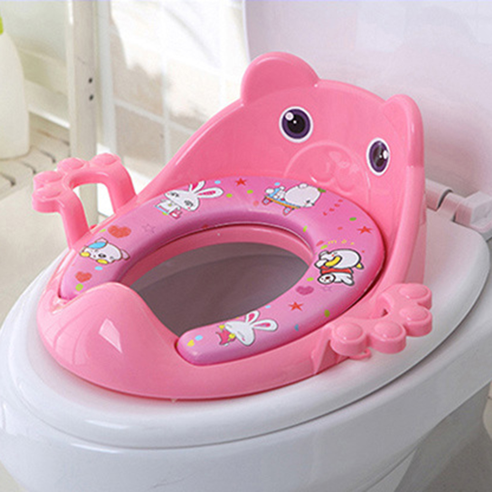 Baby Child Potty Toilet Trainer Seat Cartoon Baby Potty Seat Cushion With Armrest Children Toilet Training Pad Training Toilet