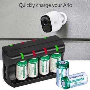 8 Ports RCR123A Battery Charger 16340 1635016360 3.7V Arlo Charger Battery Charging Adapter