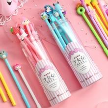 Get more info on the 10pcs/lot Schol Student Kawaii Cartoon Gel Pen Set Cute Black Gel-ink Writing Signing Pen Kids Gift Stationary Supplies 04276