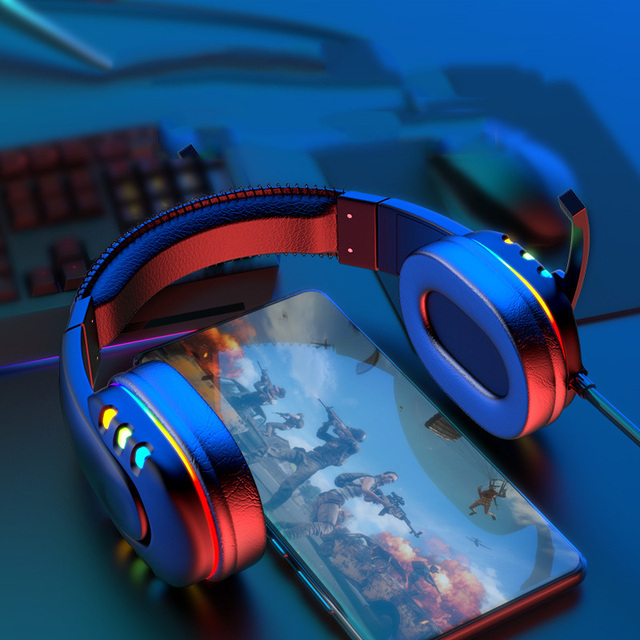 Gaming Headsets With Microphone PC Gamers Headsets Wired Headphones Backlit RGB Headset For Computer Tablet For Xbox One PS4 PS5 4