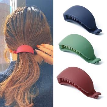 New Cute Candy Colors Banana Shape Hair Claws Women Girls Sweet Hair Clips Ponytail Holder Hairpins Fashion Hair Accessories 1