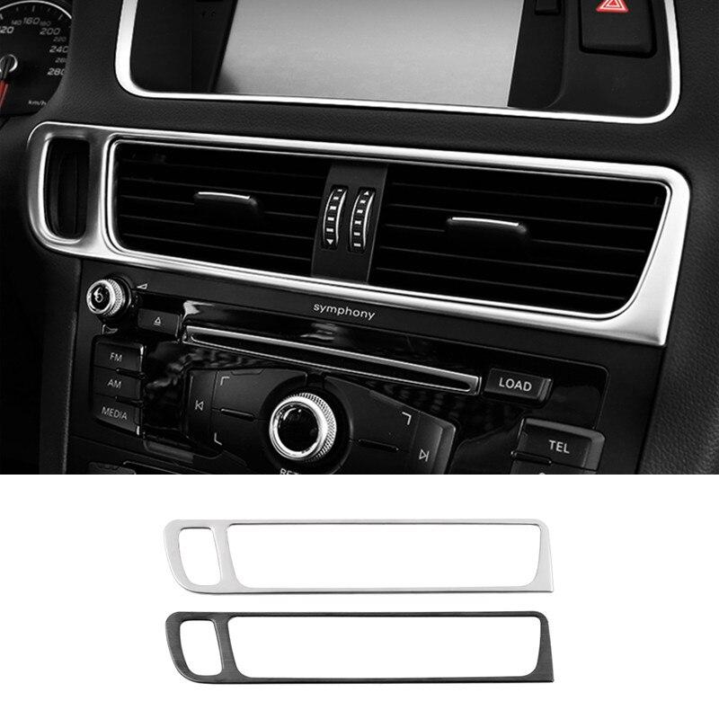 Автомобильная средняя консоль, рамка с отверстием для ключа, выход кондиционера, декоративная накладка для Audi Q5 2010-18 LHD, аксессуары для интер...