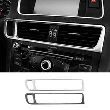 Console Central do carro Chave Buraco Quadro Condicionador de Ar Tomada De Decoração Tampa Guarnição Para Audi Q5 2010-18 LHD Interior Acessórios