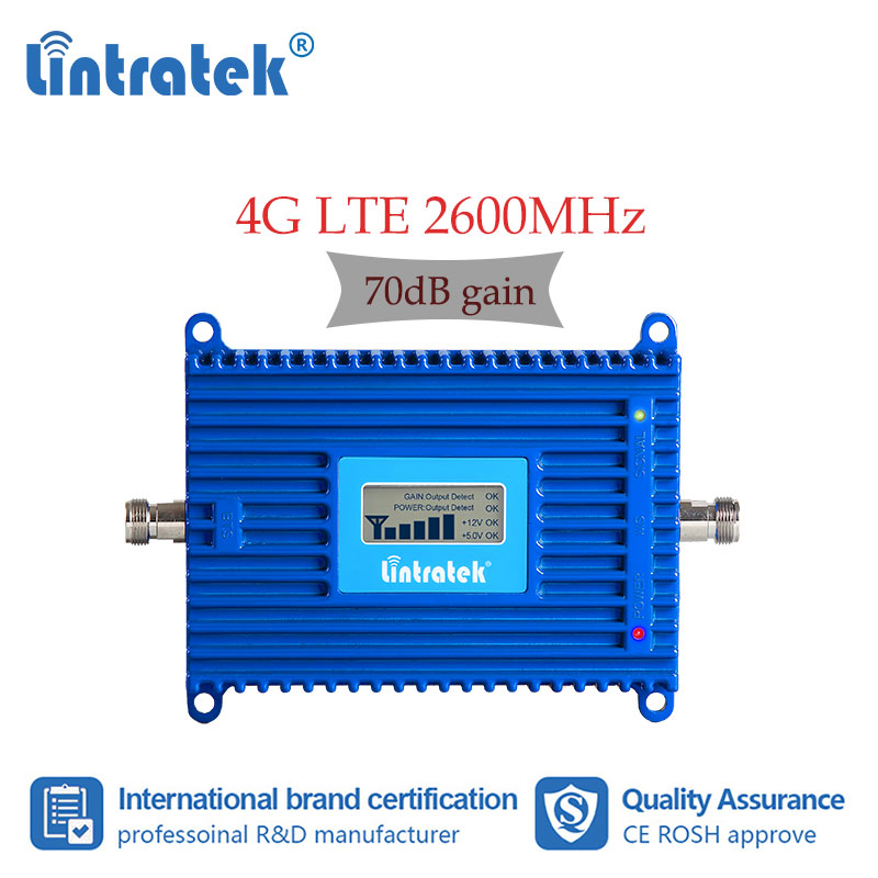 Lintratek LTE 2600 MHZ Signal Amplifier Improve Cellular  Cell Phone 4g Signal  Network Booster With LCD Display FDD Band 7 S4