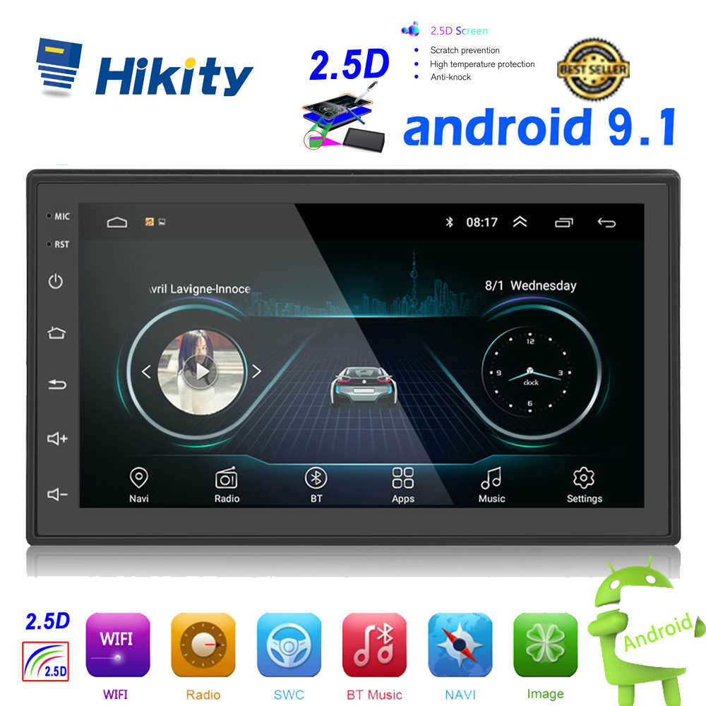 Hikity 2.5D Android 2din Car Multimedia Lettore MP5 Radio GPS Navi WIFI Autoradio 7 ''Schermo di Tocco di Bluetooth FM Audio car Stereo