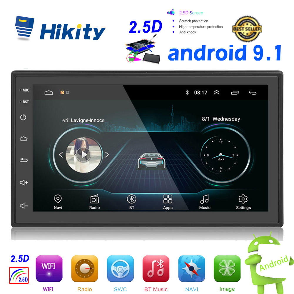 Hikity Android 2din Auto Radio GPS Navi WIFI Multimedia MP5 Speler Autoradio 2 Din 7 ''Touch screen Bluetooth FM audio Auto Stereo title=