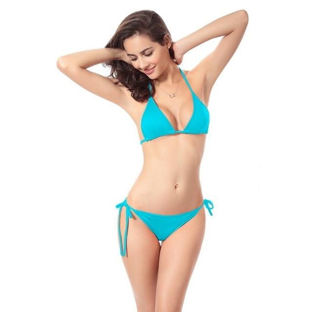 2021 Hot New Lady Sexy Scrunch Brazilian Ruched Semi Thong Bikini Bottom Women Tie Side Swimwear Fashion Beach Bottom 5