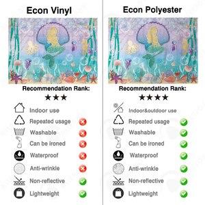Image 4 - Allenjoy dos desenhos animados sereia menina aniversário decoração fundo mar água estrelas do mar conto de fadas photozone papel de parede vinil photophone