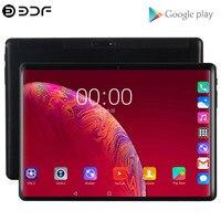 2.5D Закаленное стекло 10,1 дюймов планшетный ПК 4G/3G Телефонный звонок Android 9,0 десять ядер 8 ГБ/128 Гб Wi-Fi Bluetooth 8,0 МП Поддержка планшетного ПК
