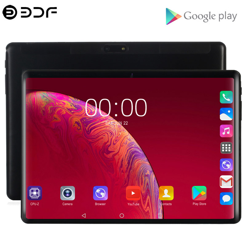2.5D Tempered Glass 10.1 Inch Tablets 4G/3G Phone Call Quad Core 2GB/32GB Wi-Fi Bluetooth 5.0 MP Support Android 7.0 Tablet PC